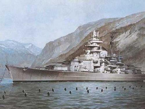 Линкор Тирпиц и подводная лодка К-21