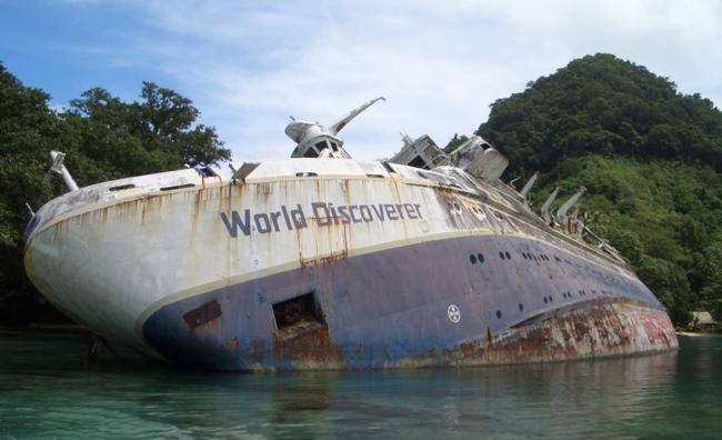 Самые известные кораблекрушения: корабль «World Discoverer»