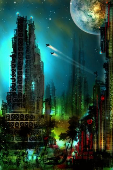Города будущего - фантазии архитекторов