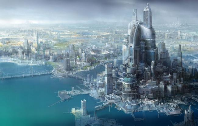 Города будущего - гигантский портовый город