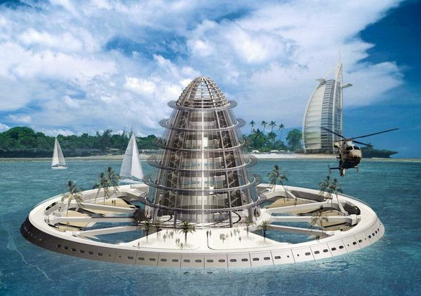 Города будущего - плавающее кольцо