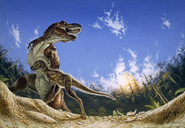 Тираннозавр: потомство