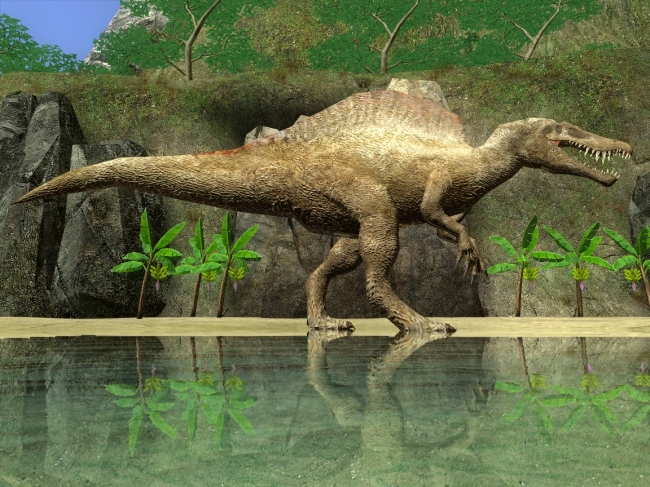 Доисторические хищники: спинозавр