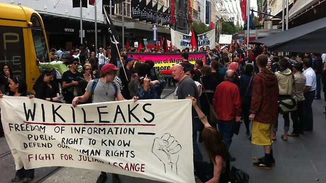 Wikileaks: митинг в Публичной библиотеке