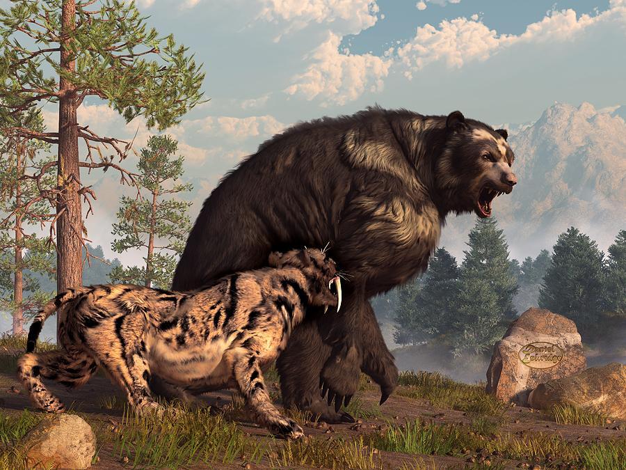 Prehistoric lion