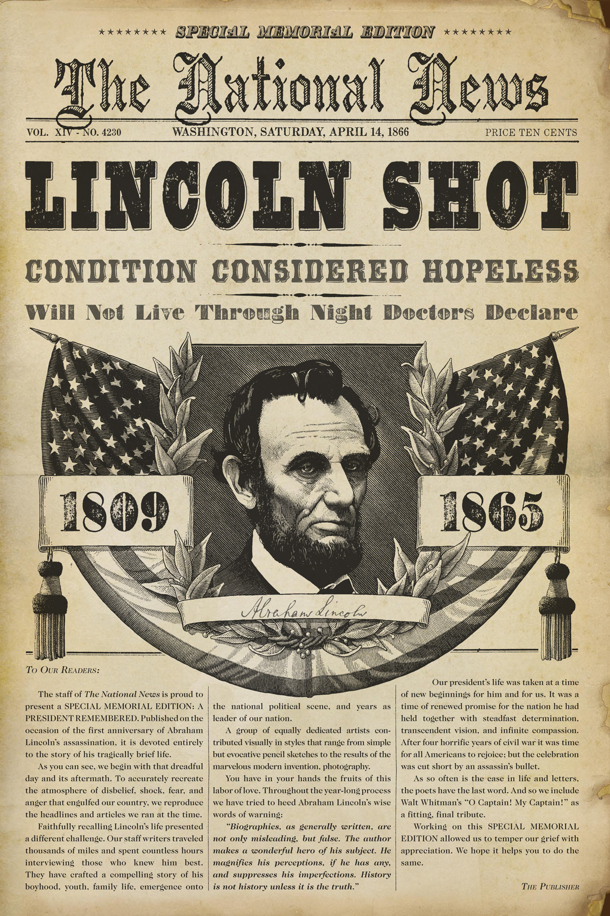 an introduction to all american tragedy lincoln assassination The lincoln assassination, 150 years later a century-and-a-half ago,the horrors of the civil war gave way to another horror: the murder of an american.