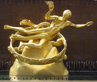 Иллюминаты - статуя Прометея