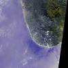 Цунами - снимок побережья Шри Ланка