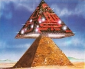 Космические пришельцы и строительство египетских пирамид - картины и символы