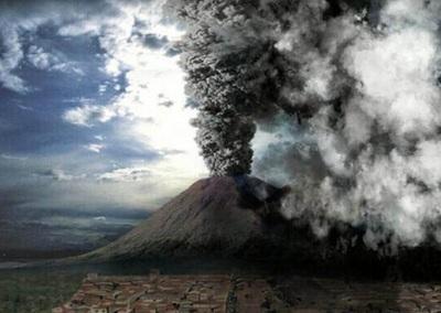 последствия извержения в Помпеи
